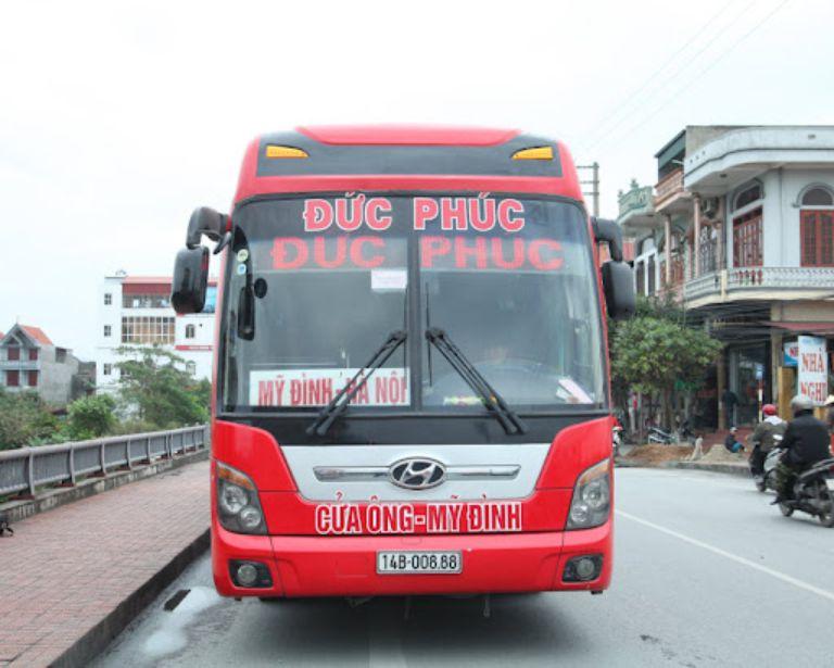 Xe khách Đức Phúc đi tuyến Hà Nội - Bắc Ninh