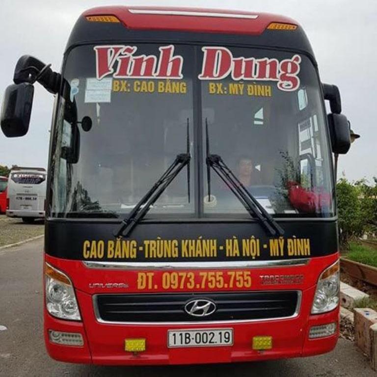Xe khách Vĩnh Dung Hà Nội Cao Bằng