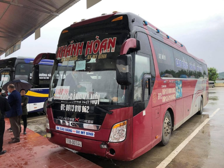 Nhà xe Khánh Hoàn chạy tuyến Hà Nội Cao Bằng