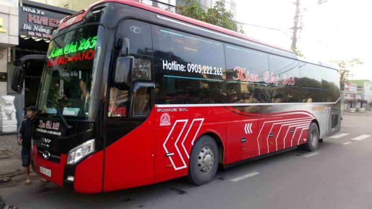 Xe khách Kim Chi 265 chạy tuyến Hà Nội Đà Nẵng