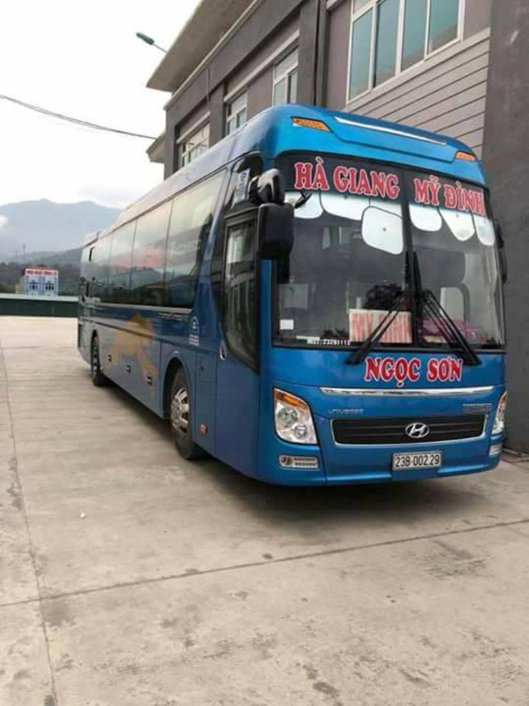 Xe Ngọc Sơn tuyến xe Mỹ Đình - Hà Giang