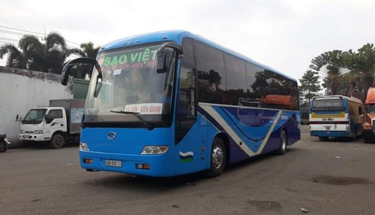 Xe khách Sao Việt đi từ Hà Nội vào Kiên Giang