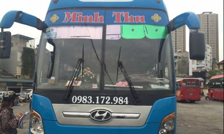 Xe khách Minh Thu từ Giáp Bát Hà Nội về Lâm Đồng