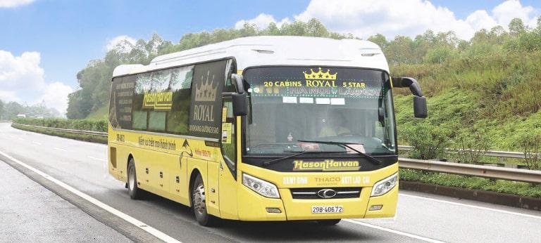 Xe khách Hà Sơn Hải Vân đi từ Hà Nội về Lào Cai