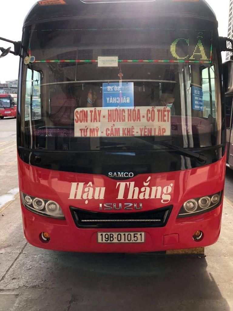 xe khách Hà Nội về Phú Thọ