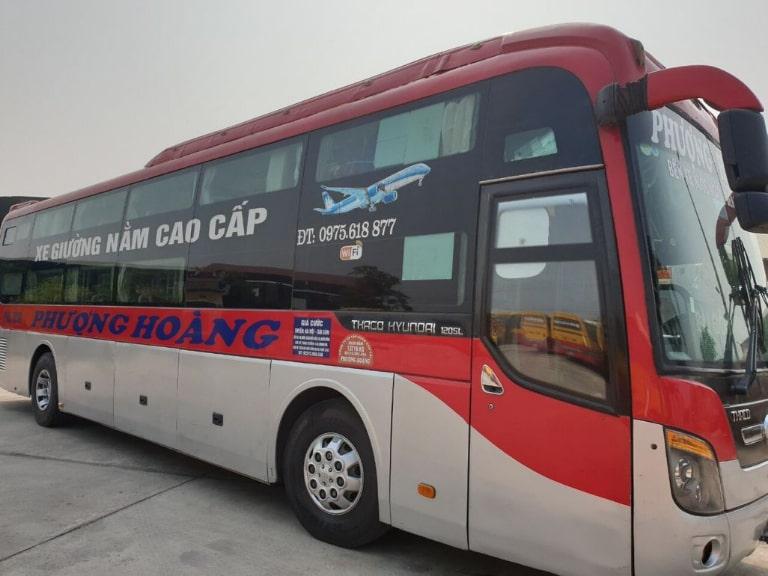 Xe khách Phượng Hoàng đi tuyến Hà Nội Quảng Ngãi