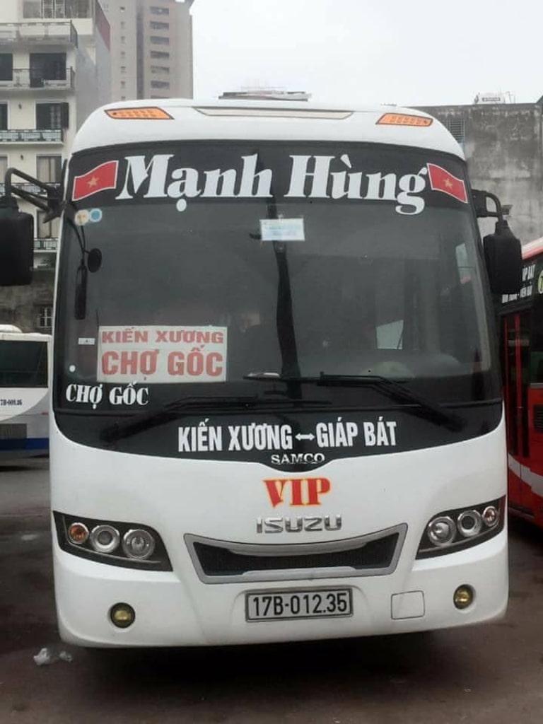 Xe khách Mạnh Hùng Hà Nội Thái Bình