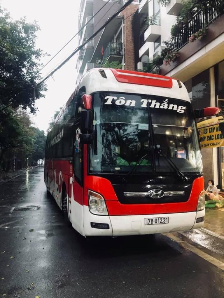 Tôn Thắng - nhà xe chuyến tuyến Hà Nội Thái Bình