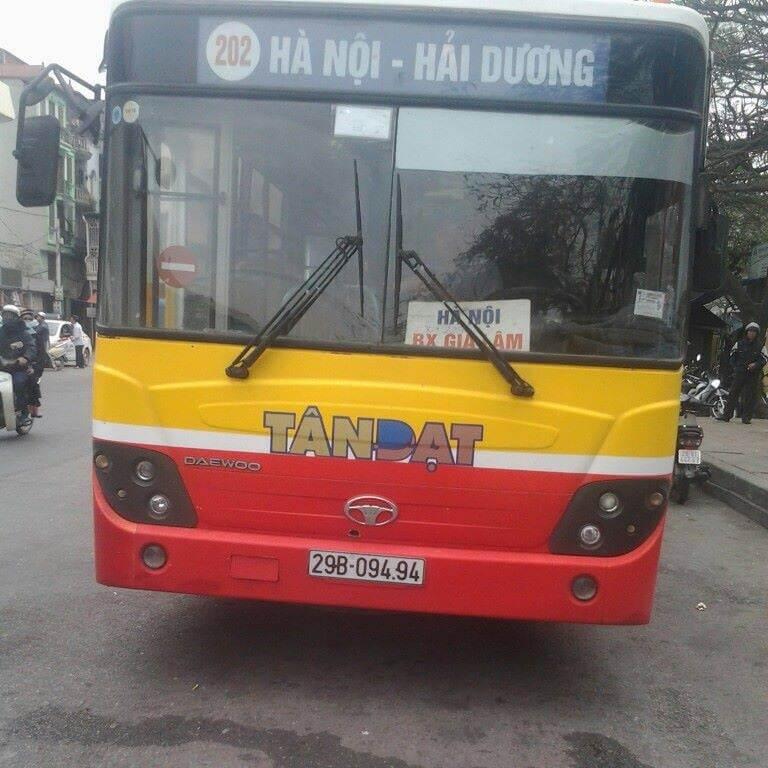 xe bus tuyến 202 Hà Nội - Hải Dương