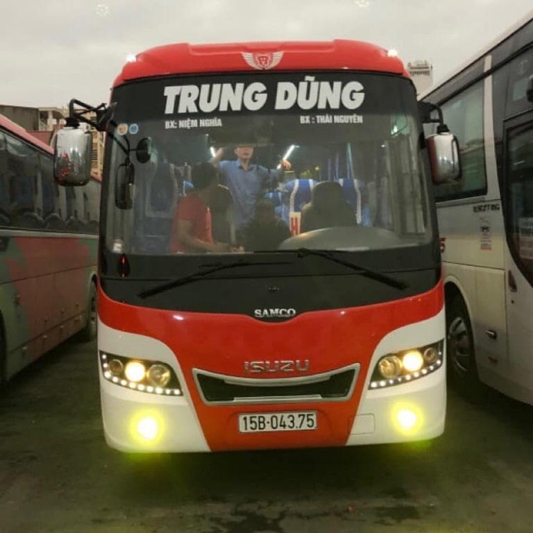 Xe khách Trung Dũng từ Hải Phòng đi Thái Nguyên
