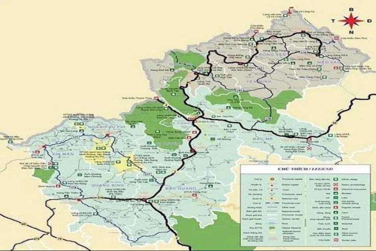 Bản đồ bằng giấy sẽ tiện lợi hơn cho bạn khi khám phá Hà Giang