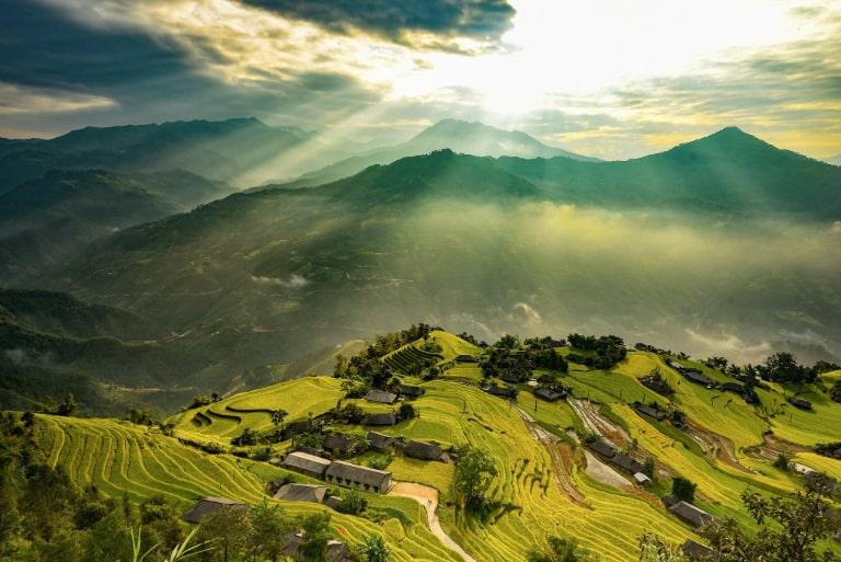 Cảnh bình minh hay hoàng hôn ở Hà Giang cũng rất đẹp