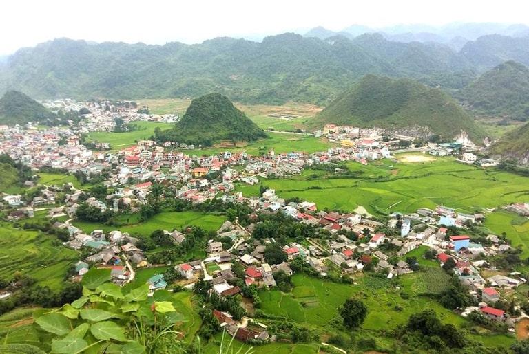 Trung tâm của huyện Quản Bạ