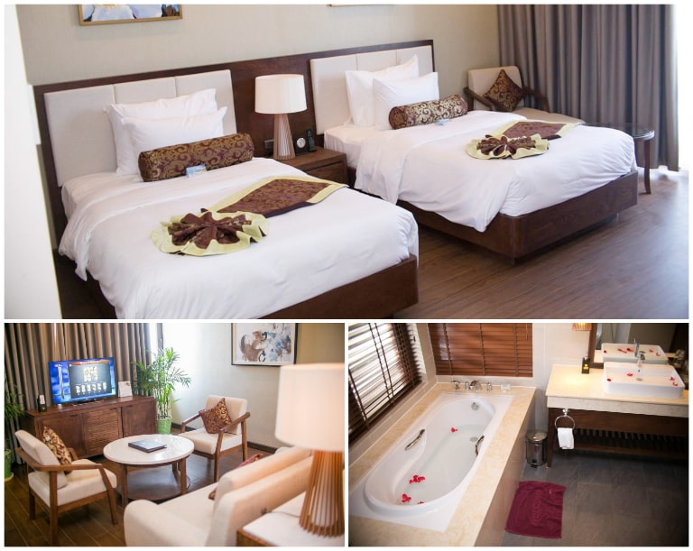 Không gian nội thất tiện nghi của Resort Hương Phong Hồ Cốc tại Hồ Tràm.