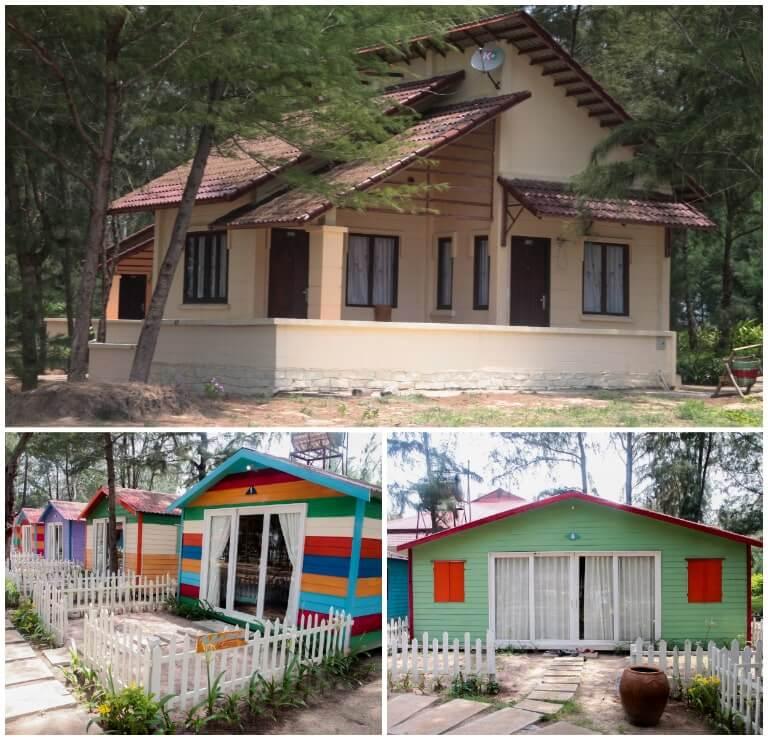 Thiết kế phòng nghỉ cực độc đáo tại resort 4 sao Hồ Tràm