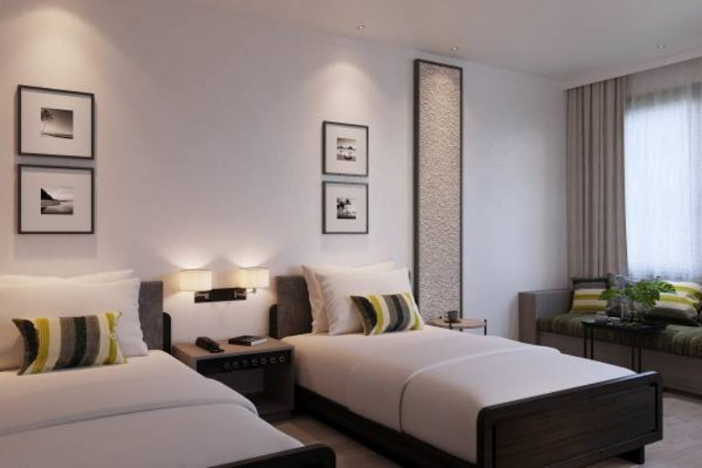 Phòng ngủ trang nhã của resort Seava