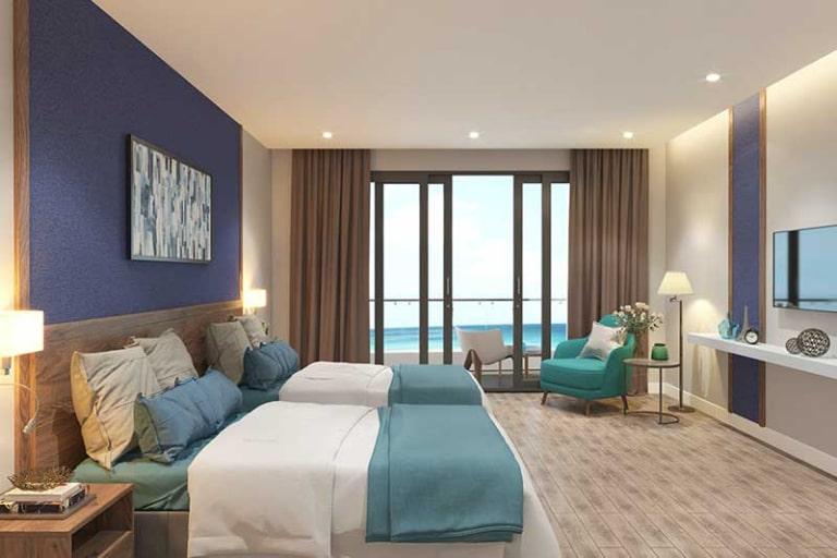 Resort 4 sao Hồ Tràm Pamira có màu sắc ấm áp.