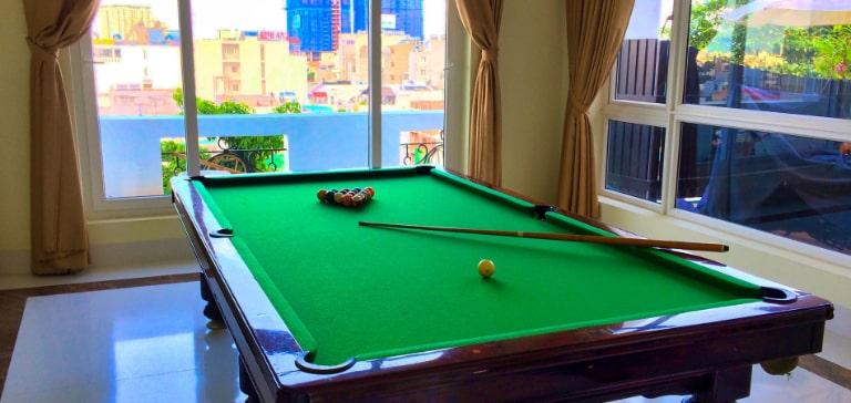 Bàn billiard tại resort Vũng Tàu
