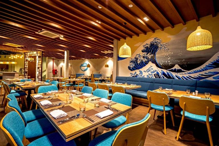 Không gian phòng ăn của resort