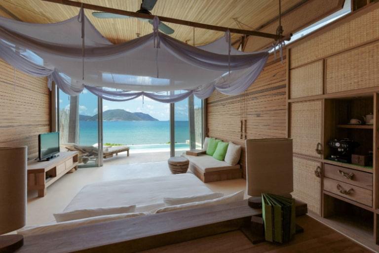 Phòng ngủ tại resort 5 sao Vũng Tàu tại Côn Đảo