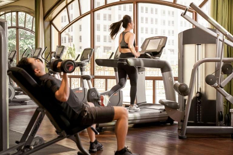 Phòng gym nâng cao sức khỏe của reosrt 5 soa Vũng Tàu