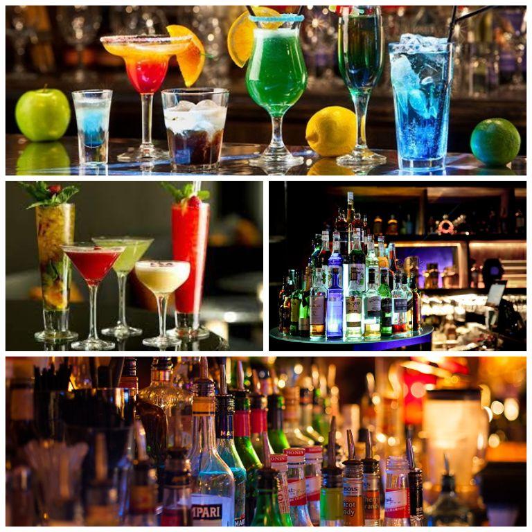 Quầy Bar tại resort Aroma
