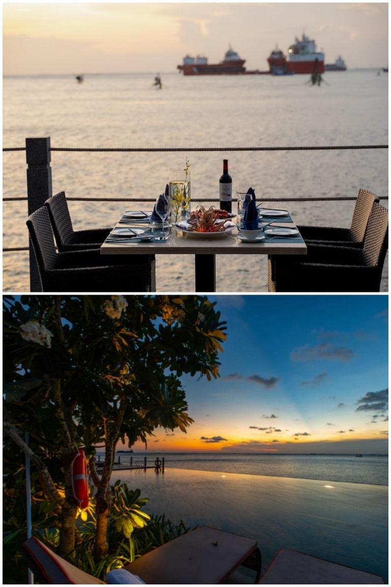 Cảnh chiều buông cực lãng mạn tại resort Marina Vũng Tàu