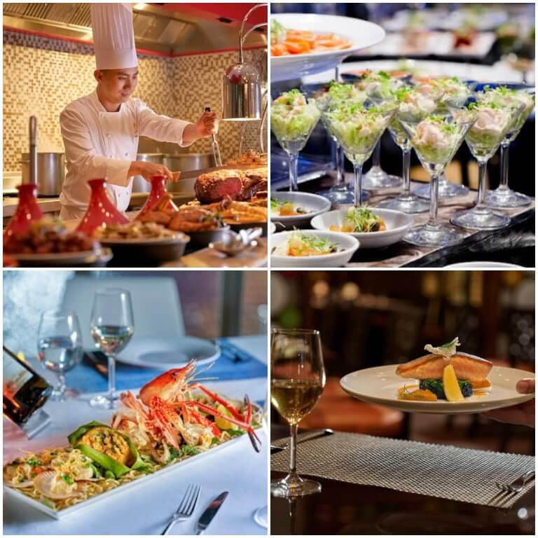 Các món ăn hấp dẫn tại InterContinental Grand Resort Hồ Tràm
