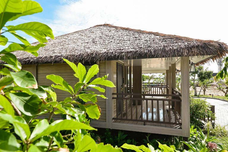 Nhà gỗ của resort Lan Rừng