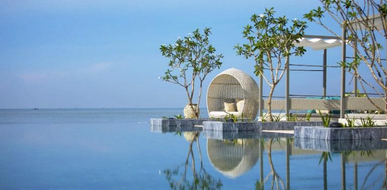 Cảnh biển đẹp như mơ của resort Melia Hồ Tràm.