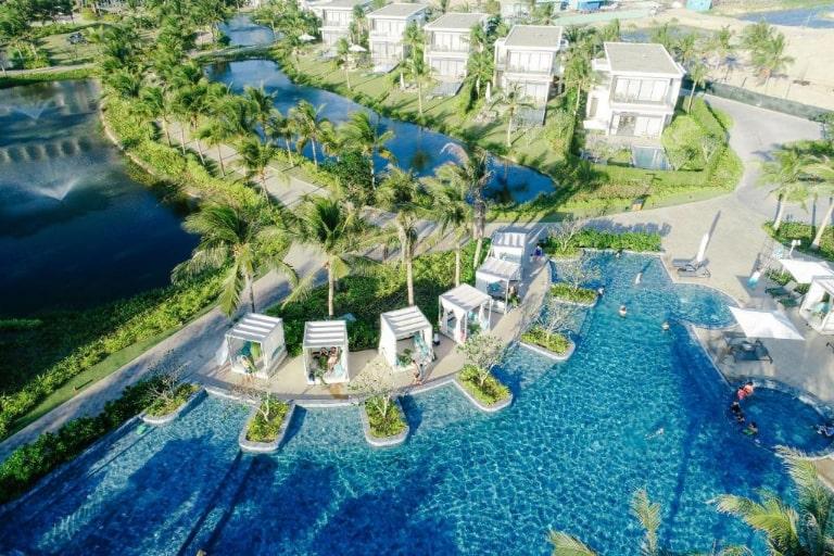 Một góc resort Melia Hồ Tràm