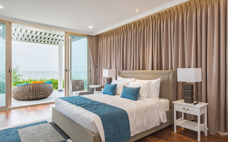 Phòng ngủ của villa 3 phòng