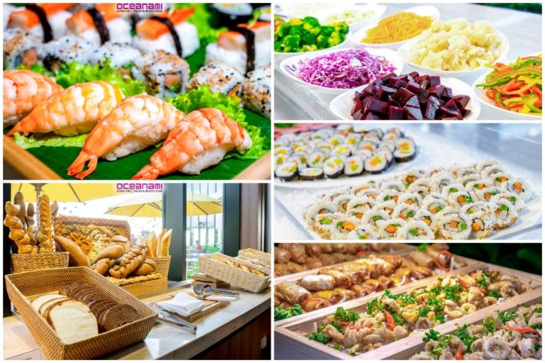 Các món ăn đa dạng hương vị đem đến cảm nhận tốt.
