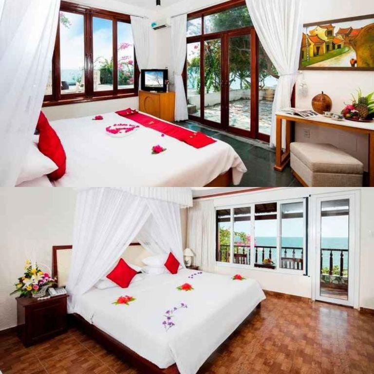 Phòng Deluxe Ocean View của resort Rock Water Bay