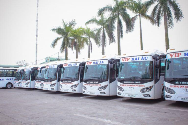 Xe khách Hải Âu chạy đường 5 cũ – Hải Âu Bus Cầu Rào Gia Lâm