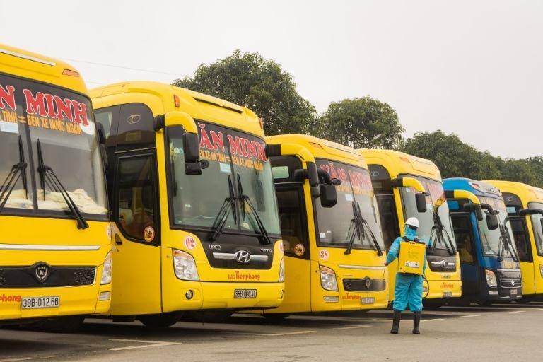 Xe khách Văn Minh chuyên tuyến Hải Phòng Nước Ngầm