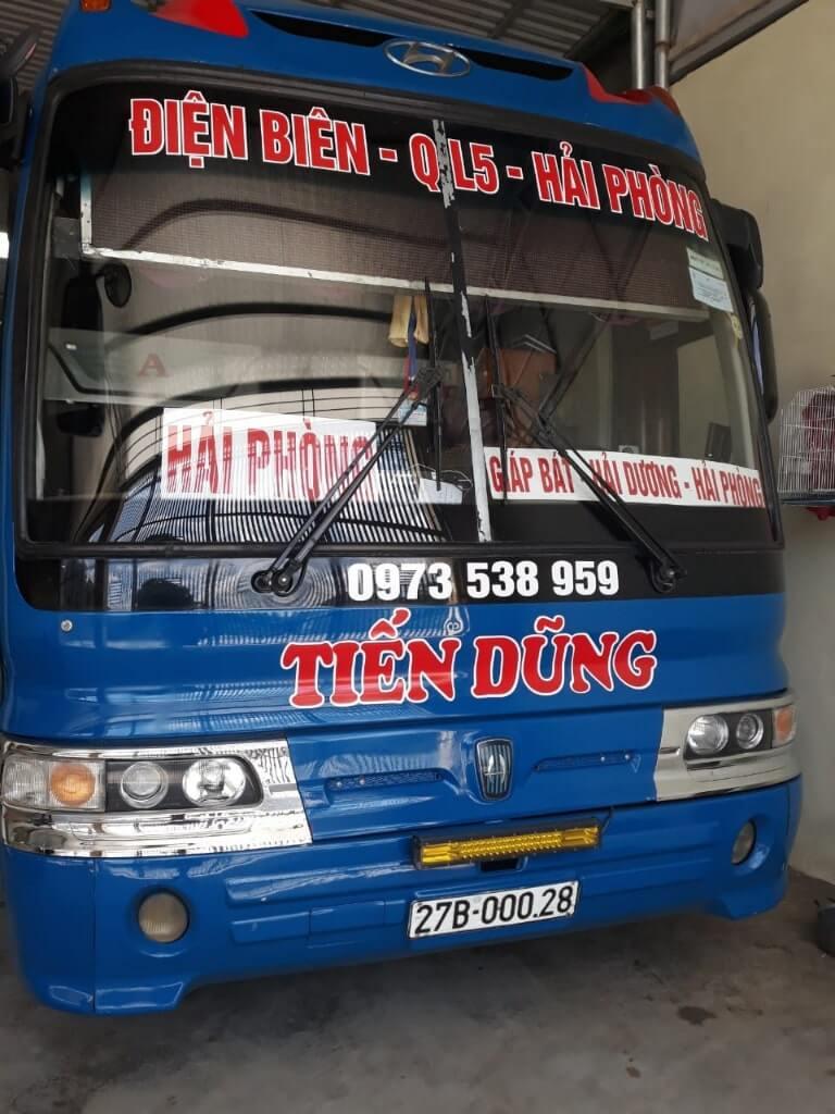Xe khách Hải Phòng Điện Biên - Tiến Dũng
