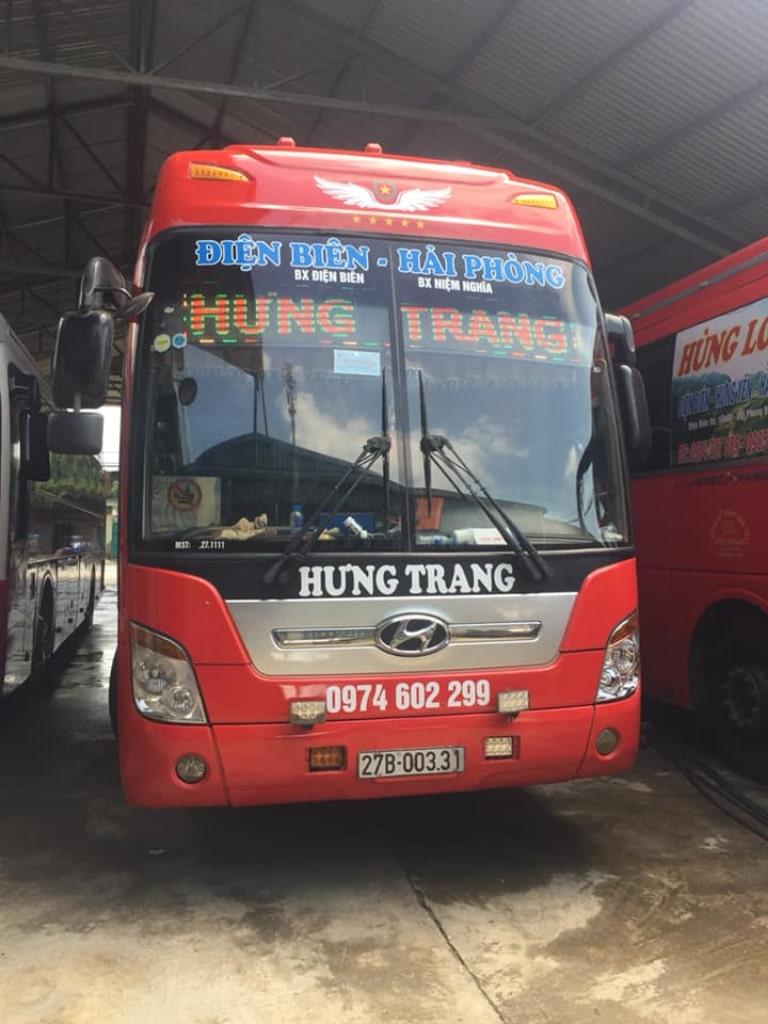 Xe Hưng Trang từ Hải Phòng đi Điện Biên