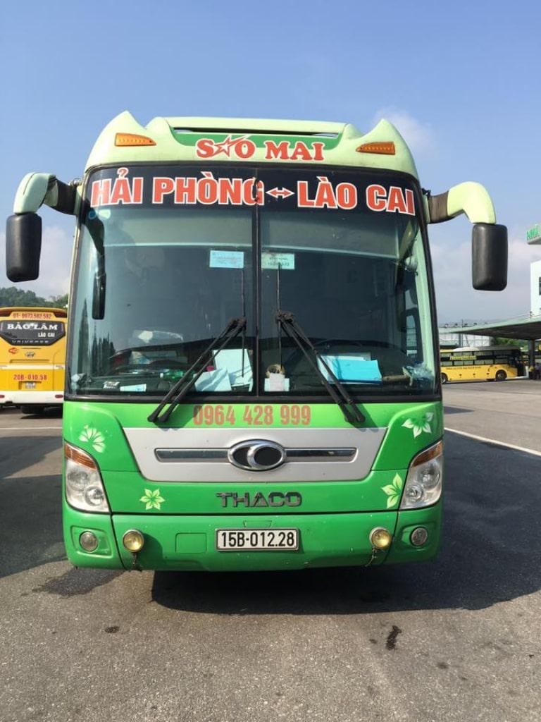 Xe khách Sao Mai Hải Phòng đi Lào Cai