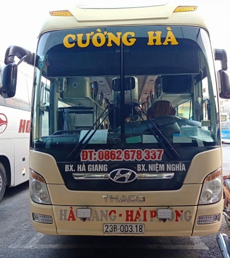 Cường Hà - Xe giường nằm Tuyên Quang Hải Phòng