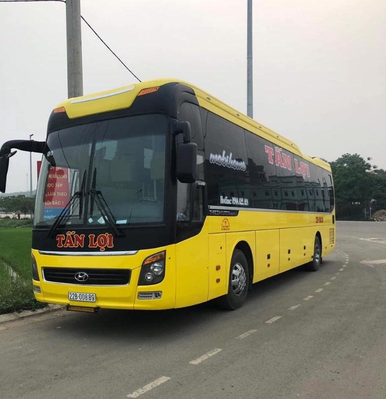 Xe khách Tấn Lợi tuyến Hải Phòng Tuyên Quang