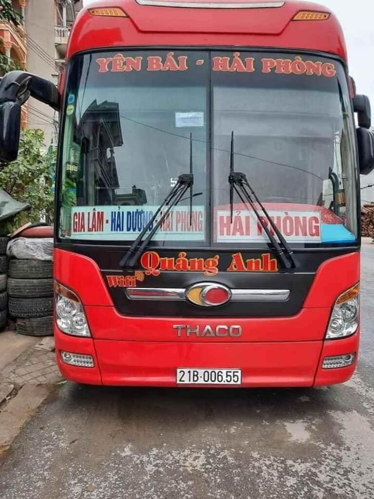 Nhà xe Quảng Anh Yên Bái - Hải Phòng