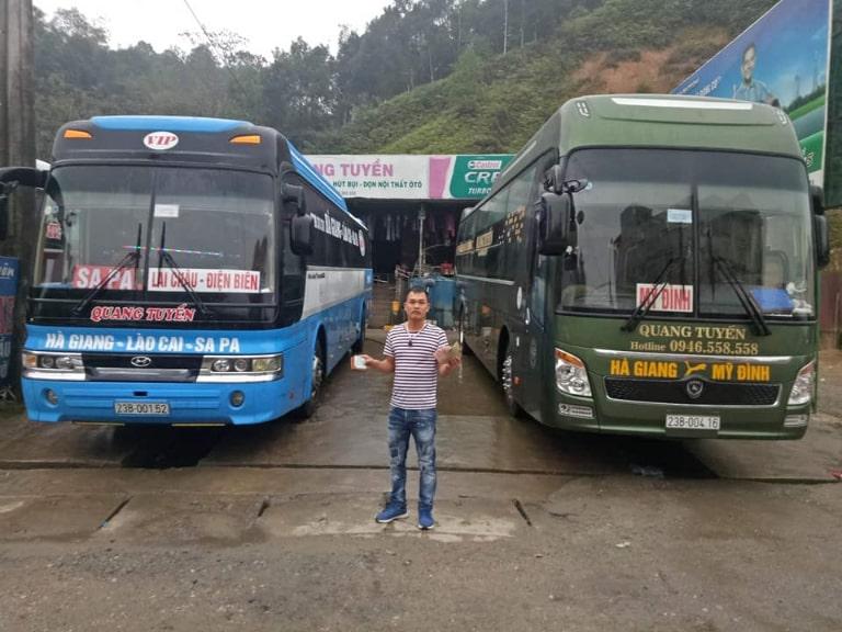 Xe khách Quang Tuyến từ Nội Bài đi Hà Giang