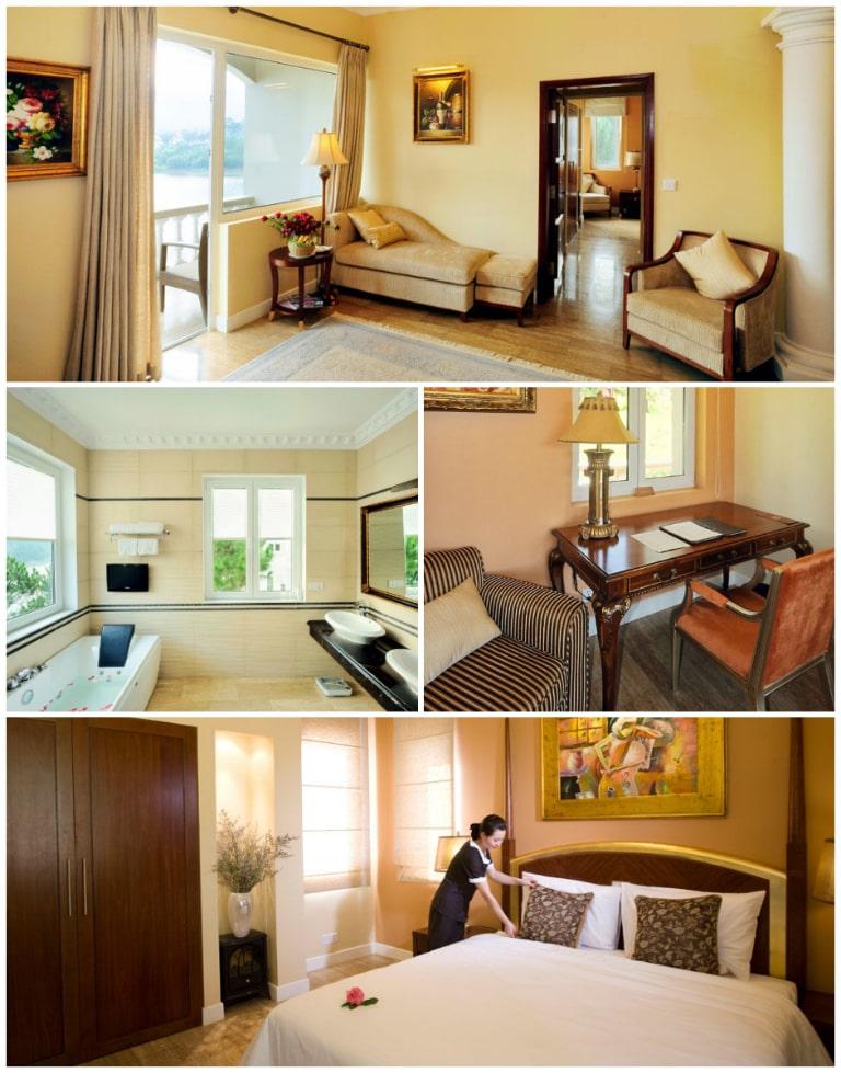 Phòng Camelia của Edensee Resort đầy đủ các không gian chức năng