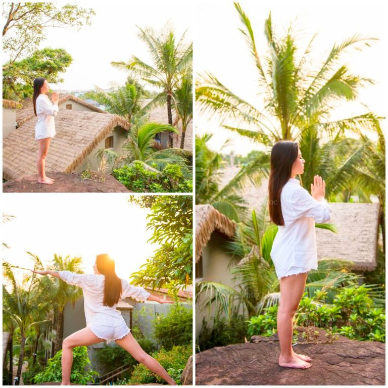 Yoga thư thái ngoài trời tại M resort Phú Quốc