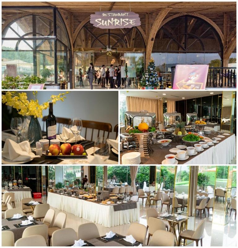 Ẩm thực chuẩn 4 sao tại nhà hàng SunRise của Irovy Resort