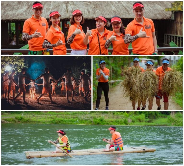 Hoạt động team building khó quên tạị Mai Châu Ecolodge chuẩn resort 4 sao.