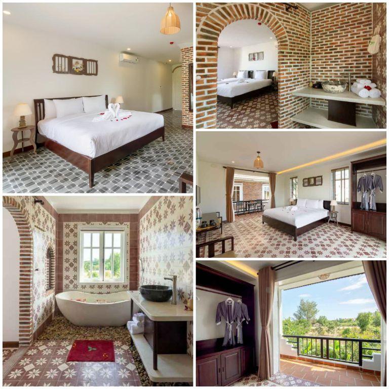 Kiến trúc của các căn phòng nghỉ dưỡng