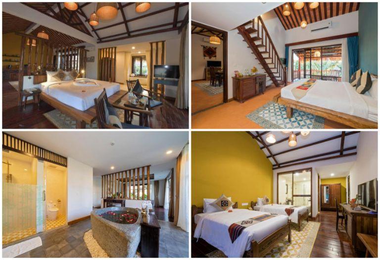 Không gian phòng nghỉ tại Zest Villas & Spa Hoi An