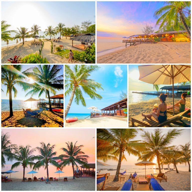 Phu Quoc Eco Beach Resort có bãi biển riêng ở Phú Quốc